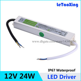 12V 24W LED Driver Power Supply Waterproof Outdoor 12V 2A Adapter Transformers For LED Strip light Lamp 100pcs Free shipping