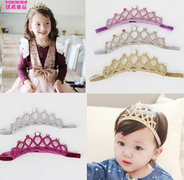 Newly Children Girl's Crown Headbands Korean Jewelry Princess Lovely Baby Headband Child Birthday Accessories Fashion Girl Hair Wear