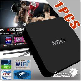 Pc hd en Ligne-Une pcs Original Kodi MXQ TV Box Amlogic S805 Quad-Core Cortex-A5 Mali-450 Quad-Core H.264 / H.265 KODI 15.2 Pré-installé MX MXQ Android TV
