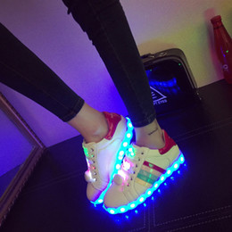 2016 New Arrive Graffiti 7 Colors Led Lighted Shoes Unisex Men Women Led Shoes Fashion Luminous Lover Breathable Flats Lace Up