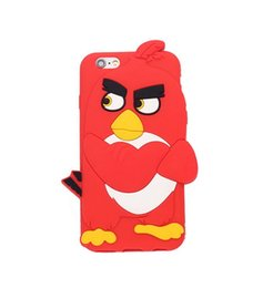 Wholesale Cartoon Popular Angry bird Logo Soft Silicone Cover Back Cell Phone Cases For Iphone splus Samsung J5 J3 P8LITE P8