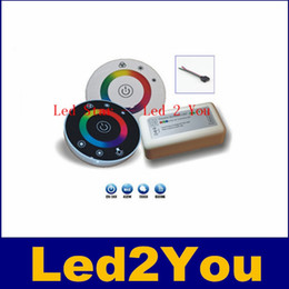 24v диммер панель Онлайн-Сенсорный RGB контроллер DC12V 24V 18A беспроводной контроллер LED RF Сенсорная панель LED RGB диммер пульта дистанционного управления