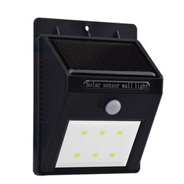 Wholesale Solar Powered Sensor Wall Lights Energy Saving Solar Panel LED Lamp SL A For Outdoor Landscaping Deck Yard Garden Home Stairs Path