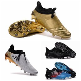 Wholesale 2016 New Soccer Shoes X Purechaos Firm Ground Cleats Cheap Sale Football Boots Botas De Futbol High Tops Soccer Cleats FG AG