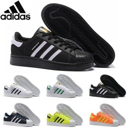 Wholesale Adidas Originals Superstar Marble Running Shoes Men Women Brand Summer Superstars KPU High Quality Super Star Black White Max Size