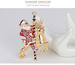 Wholesale Christmas Series Christmas tree Snowman sleigh bells boots penguin Collar pin brooch