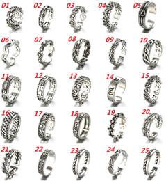 Wholesale Cheap Silver Rings Women - Retro Thai Silver Ring 925 Sterling Silver Ring Opening Adjustable Ring, Women Fashion Jewelry Cheap Jewelry