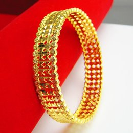 Don't rub off the gold bracelet style imitation gold plated bracelet 999 female bride wedding jewelry wide heavy