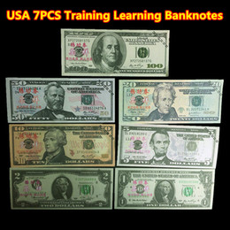 Wholesale Hot Gift USA Dollars BANKNOTES Bank Staff Training Collect Learning Banknotes Arts Gifts Home Arts Crafts