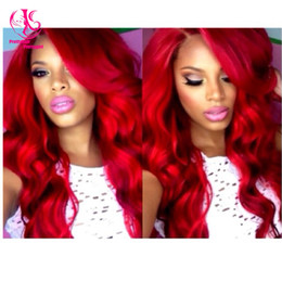 Cheap Extra Long Wine Red Synthetic Lace Front Wig Heat Resistant Wavy Burgundy Red Wig Natural Wig