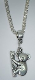 "18"" Chain Necklace & Koala Bear Pendant Charm Animal Lovers Gift - Free organza bags gift"
