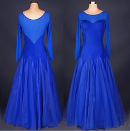 2018 Ballroom Competition Dance Dress Lady Red Purple Blue Ballroom Standard Dance Women Viennese Waltz Dress Dancewear Dance Dress