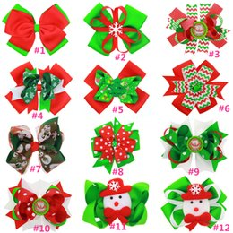 6 inch Christmas Hair bows, Red, Green, Chevron, Christmas ribbon hairbow, Girls hair bows, Christmas hair bows for girls, Hair accessories