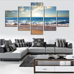 Wholesale No Frame Piece The Sea Beach Modern Home Wall Decor Canvas Picture Art HD Print Painting On Canvas Artworks