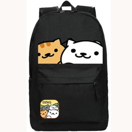 NekoAtsume backpack cat home school bag Free shipping Oxford popular day pack Hot sale game daypack