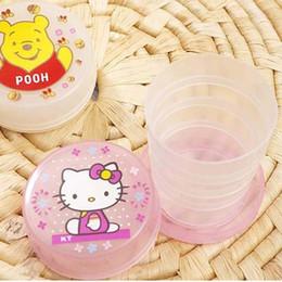 2pcs / Lot Hot Summer Creative Cartoon Voyage pliant Coupe Portable Enfants Bouteille d'eau cadeau pour les enfants Livraison gratuite à partir de bouteilles d'eau gratuits pour les enfants fabricateur