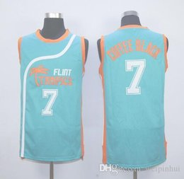 Wholesale Hot sale Flint Tropics Semi Pro Movie Basketball Jersey Coffee Black Green White Best Stitched Quality