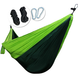 REAMIC Hiking camping portable small and exquisite package hammock outdoor beds straps and steel ring includes have 2 rope
