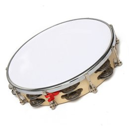 Wholesale Metal Wood Polyester sheath quot Capoeira Leather Pandeiro Drum Music Instrument Tambourine Percussion membranophone