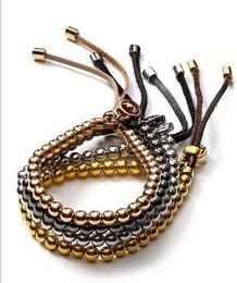 Wholesale MK Michael Kores jewelry alloy Fashion Women Jewelry Best Selling Simple elasticity bead Charm Bracelet Factory