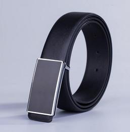 2016 belt black designer belts men high quality alligator strap smooth buckle belt fashion men's casual belt free shipping