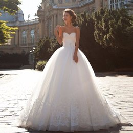 Wholesale Wedding Dress Off The Shoulder Ball Gown Lace Up Appliques Vestido De Noiva Princesa Com Renda Cheap Wedding Dress Amanda Novias