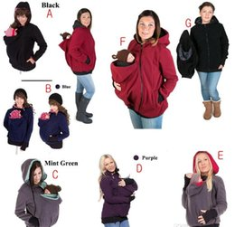 Wholesale Multifunctional Maternity Baby Hoodies Baby Carrier Jacket Casual Winter Zipper Coat For Pregant Women Thickened Hoodies COLORS