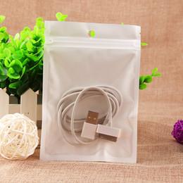 Promotion sac de rangement clair HOT blanc clair en plastique Poly sacs OPP emballage Verrouiller Zipper emballage Accessoires PVC Boîtes de détail Poignées pour téléphone Câble USB Case Chargeur
