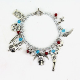 Wholesale Drop Shipping Supernatural Charm Bracelet Antique Silver Alloy Jewelry Movie Accessories For Fans Best Gift Hot Sale