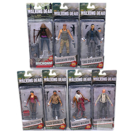 Wholesale AMC TV Series The Walking Dead Abraham Ford Bungee Walker Rick Grimes The Governor Daryl PVC Action Figure Collectible Model Toy