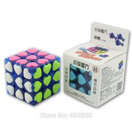 Wholesale YongJun Love Cube Transparent Blue Black Clear color Heart shape tiled Sticker Girl Friend Gift Idea Drop Shipping