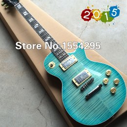 Wholesale G LP Supreme Electric guitar with AAA grade Flame Maple top Ebony Fretboard Deep green Back Top quality All Color are available