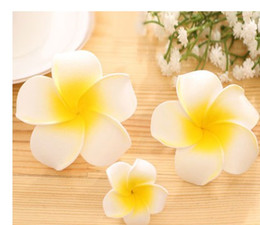 Whosale Plumeria rubra Women Beach Party Hair pins Cheap Customed Flower Wedding Barretts Accessories Hair Clips