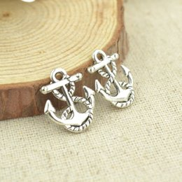 wholesale 150pcs Vintage silver plated anchor charms metal pendants for bracelets & necklace diy jewelry findings 17*14mm 2408