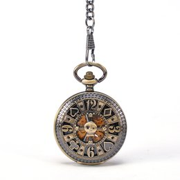 Wholesale Young Poeple Funny Pocker Cards Joker Clown Cross Front Case Mechanical Automatic Self wind Pocket Watch Mixed