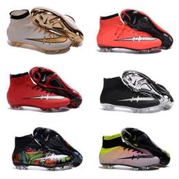 Wholesale 2016 Champions League Mercurial Superfly Heritage VI CR7 FG Soccer Shoes Magista Obra Football Boots ACC Hypervenom II Soccer Cleats Kidssh