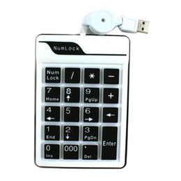 Wholesale KEEPING USB Keys Number Keypad Keyboard PC Laptop Notebook Numeric Num Pad Keyboard Mini Keypad