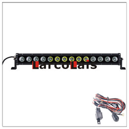 Larcolais 31 Inch 140w Combo Beam Cree LED Light Bar Motor 4x4 SUV ATV Offroad Driving Work Fog Lamp