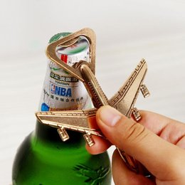 Wholesale 2017 New Airplane Bottle Opener Adventure Wedding Favor Gift Aircraft Bar Beer Wine Kitchen Tools JCR58