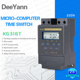 Wholesale KG316T Time delay switch controller Microcomputer control group timer swich Programmable Timer Switch Digital LCD AC220V25A