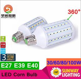 Wholesale 2016 Super Bright W W W W W Led Bulbs E27 E40 SMD Led Corn Lights Angle Led Pendant Lighting AC110 V