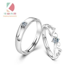 Lingdong fashion brand angel wings series 925 sterling silver inlaid CZ lovers ring Valentine's Day gift free shipping
