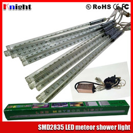 30 50 80cm smd2835 Meteor Shower set 10pcs set led star rain tube light 220v led meteor tube christmas tree decoration lights 85-265v 100pcs