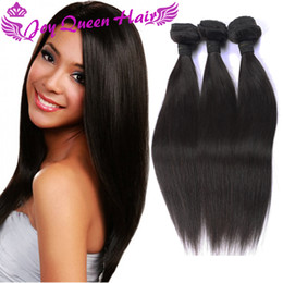 Wholesale Cheap Peruvian Straight Hair Bundles - Cheap Brazilian Human hair Extension Peruvian Indian Malaysian Combodian Straight hair weaves Unprocessed hair bundles double Machine Wefts