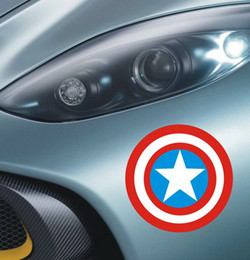Wholesale Captain America Car Stickers Decoration tank cover Sticker Removable cm