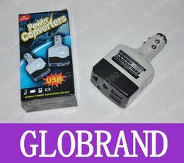 Promotion 12v ac chargeur DC 12V à 220V AC Auto Power Car Converter Inverter Chargeur adaptateur USB Chargeurs Avec