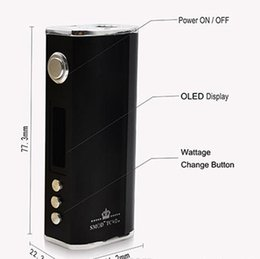 2016 Newest SMOD 40W E Cigarettes TC Box Mods Ni Coils build in 2800mah Battery battery DHL free