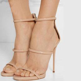 2016 New Gladiator Sandals Woman High Heels Simple Three Straps Cross Foot Sandals Shoes Woman Sandalias