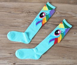 Wholesale 2016 New Creative handmade Sports socks My Little Pony kids Socks Baby Girl Socks Middle Tube Kids Socks Cartoon girls socks