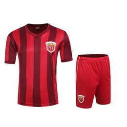 Wholesale 16 In Hong Kong home soccer sets no brands have the team logos style soccer uniforms